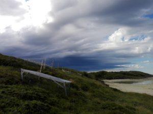 Første dag sklei tordenskyene fint forbi Skotsvær imens vi fikk sol.